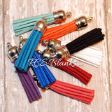 Faux Leather Keychain Tassels
