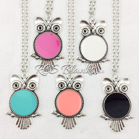 Owl Enamel Necklace