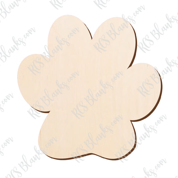 Paw Print Wood Cut-Out