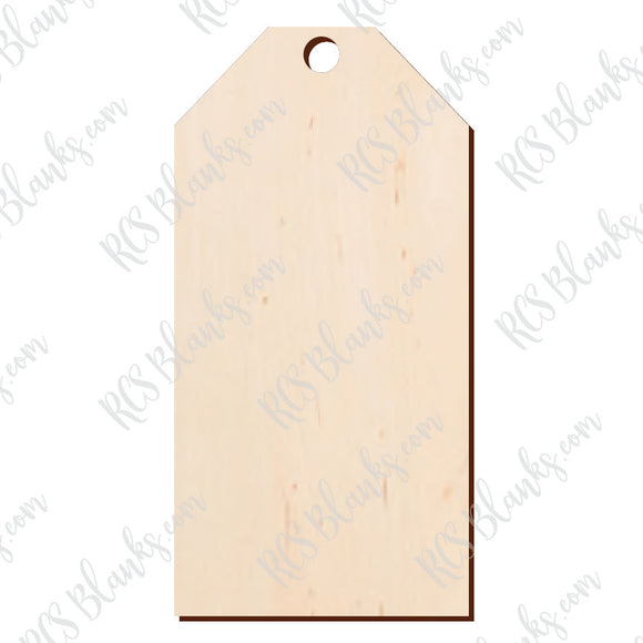 Stocking Tag Wood Cut-Out
