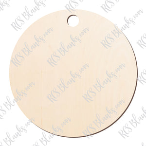 4 inch Circle Ornament Wood Cut-Out