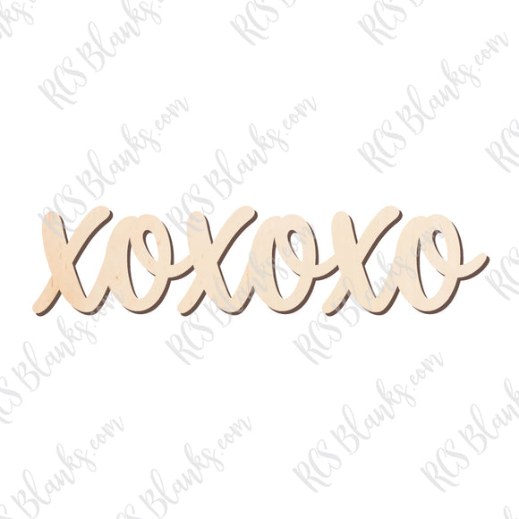 XOXOXO Love Wood Cut-Out