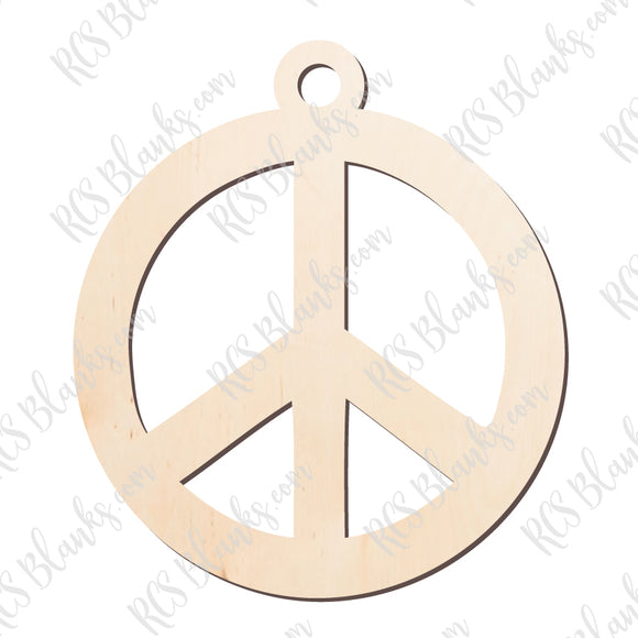 Peace Sign Ornament Wood Cut-Out