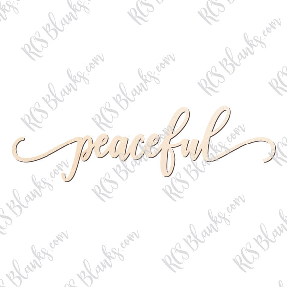 Peaceful Place Card Wood Cut-Out