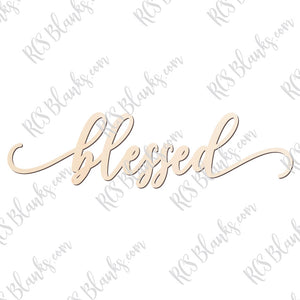Blessed Place Card Wood Cut-Out