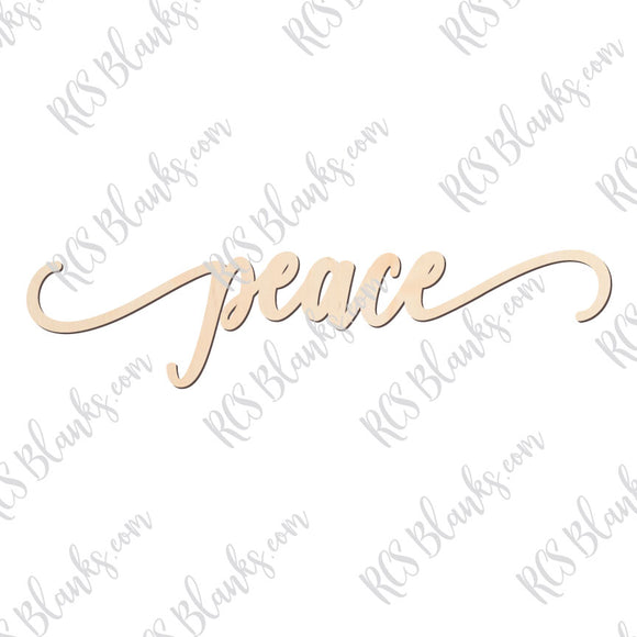 Peace Place Card Wood Cut-Out