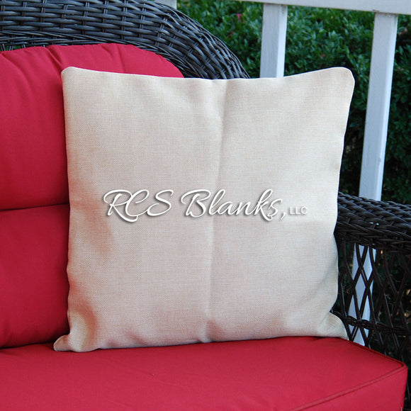 Burlap Throw Pillow Cover