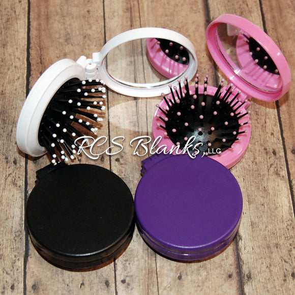 Brush & Mirror Travel Compact