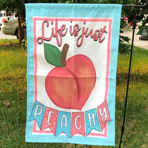 Life is Peachy Garden Flag