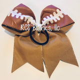 Football Faux Leather Bow