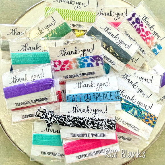Hair Tie Thank You Gift - 10 pack