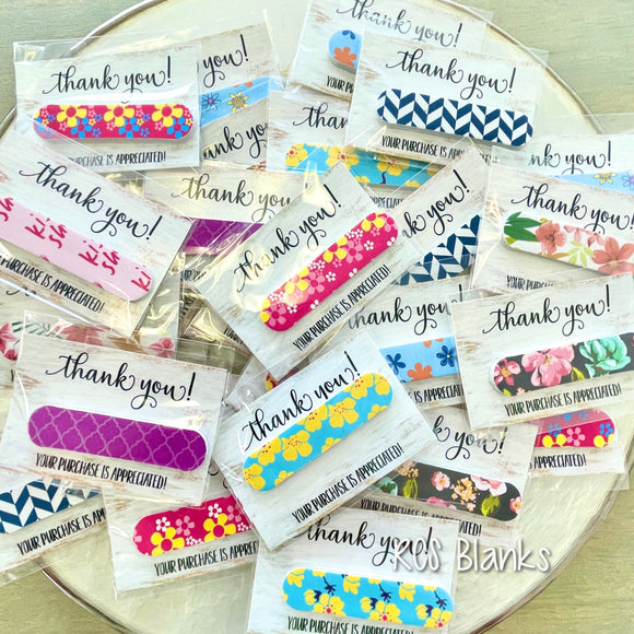Nail File Thank You Gift - 10 pack
