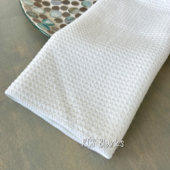 White Waffle Weave Tea Towel for Sublimation