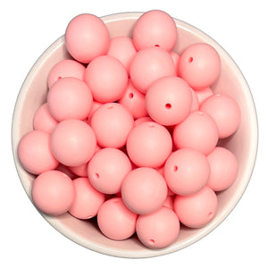 Dusty Rose 20mm Silicone Beads - 5 pk.