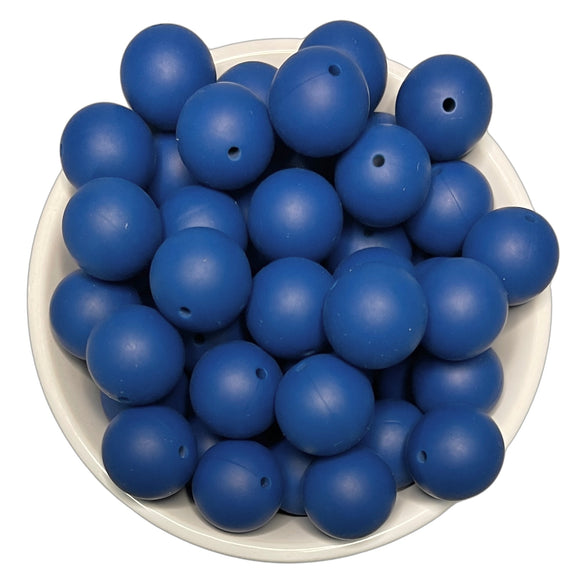 Blueberry 20mm Silicone Beads - 5 pk.