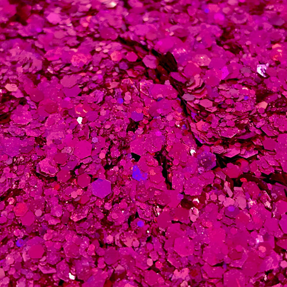 Raspberry Surprise Iridescent Glitter Mix