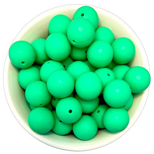 Easter Green 20mm Silicone Beads - 5 pk.