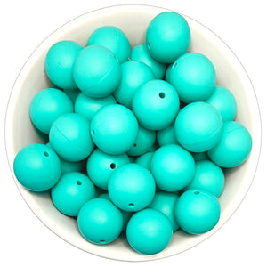 Tropical Turquoise 20mm Silicone Beads - 5 pk.