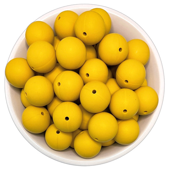 Mustard Seed 20mm Silicone Beads - 5 pk.