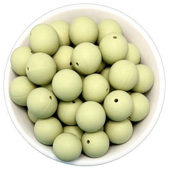 Sage Green 20mm Silicone Beads - 5 pk.