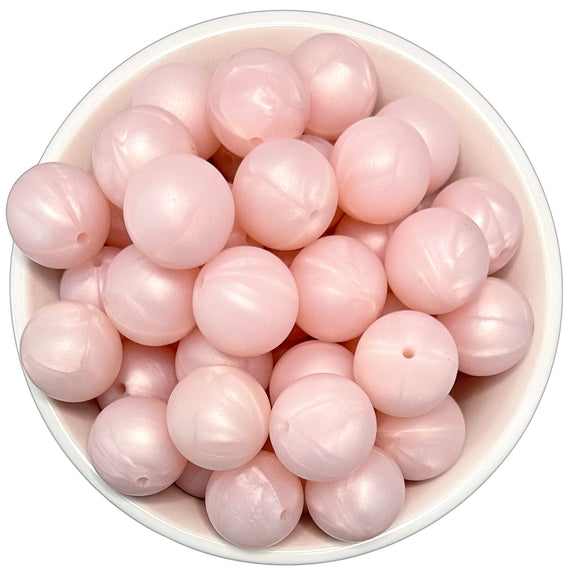 Pink Pearl 20mm Silicone Beads - 5 pk.