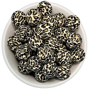 Leopard 20mm Silicone Beads - 5 pk.