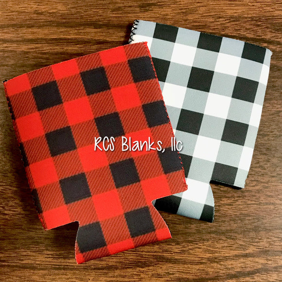 Buffalo Plaid Can Koozie