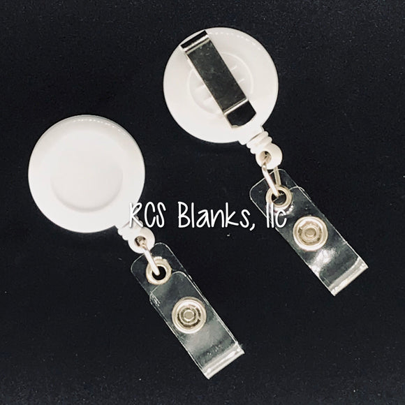 White Badge Reel
