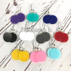 Zoey Round Acrylic Hanging Earrings