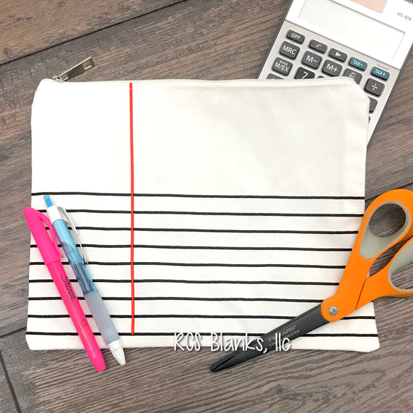 Notebook Stripe Pouch