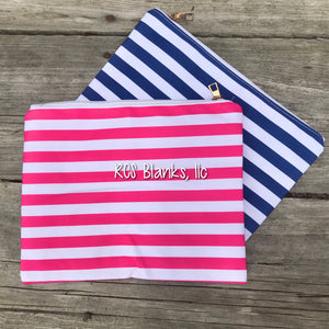 Preppy Stripes Cosmetic Bag