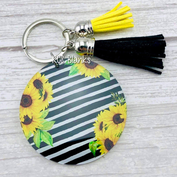Summer Sunflowers Acrylic Keychain