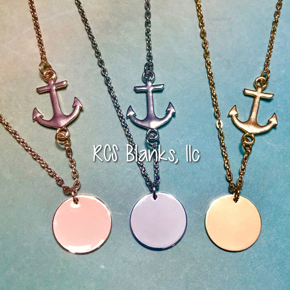 Anchor Sliding Necklace