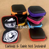 Square Earbud Case