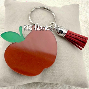 Red Apple Acrylic Keychain