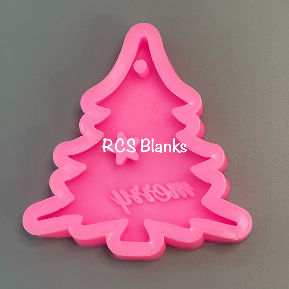 Merry Christmas Tree Ornament Silicone Mold
