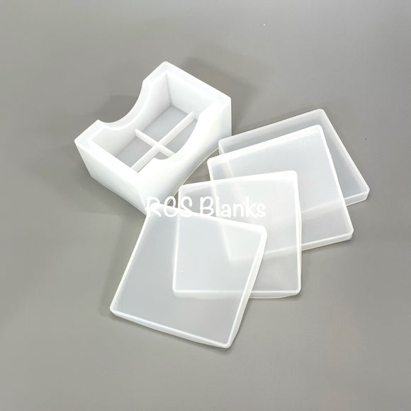 Square Coaster Set Silicone Molds