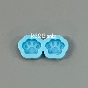 Paw Print Post Earrings Silicone Mold