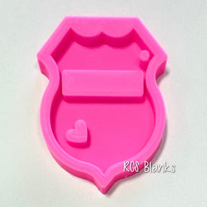 Heart Badge Silicone Mold