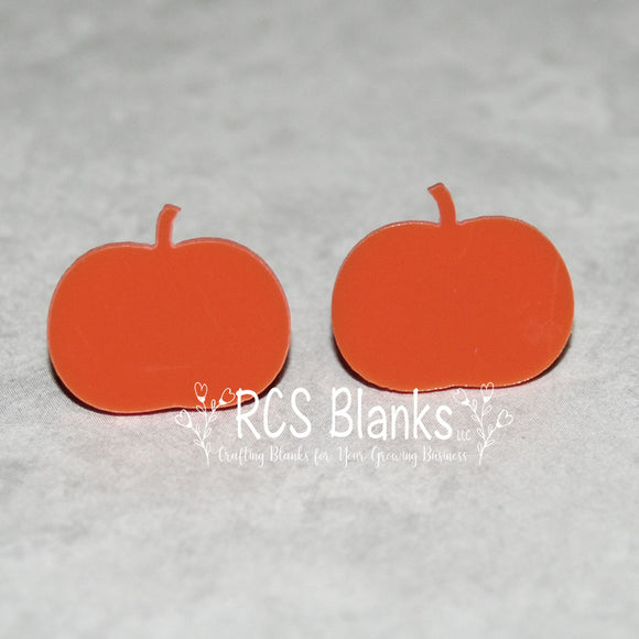 Acrylic Pumpkin Earrings