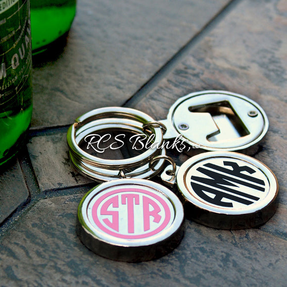 Bottle Cap Bottle Opener Key Ring