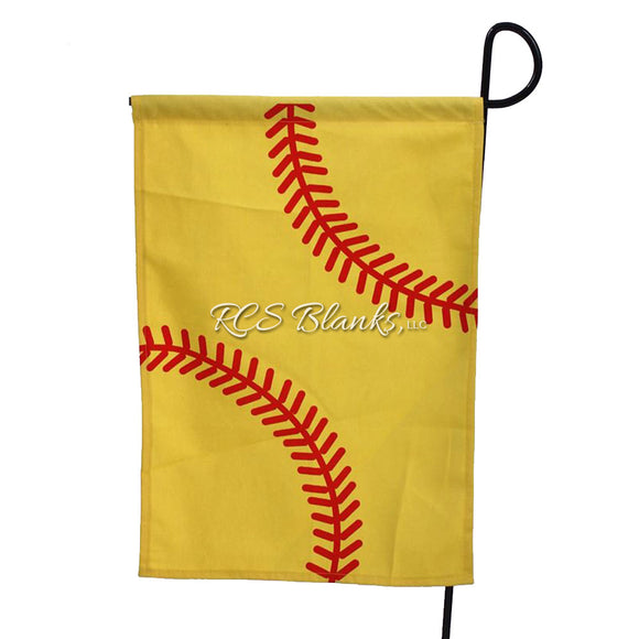 Softball Garden Flag