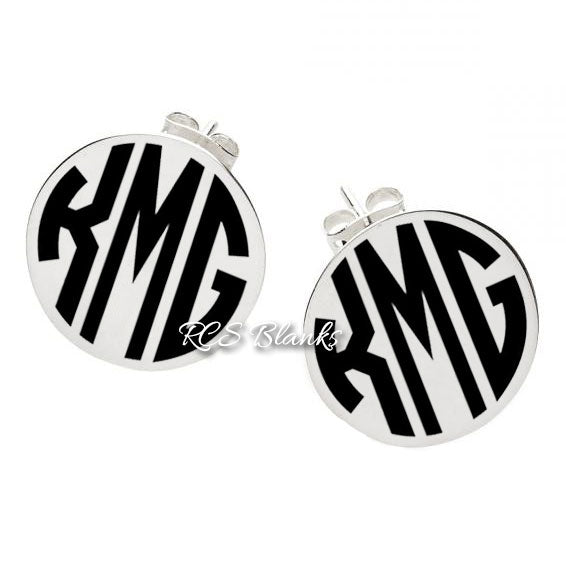 Silver Disc Post Earrings