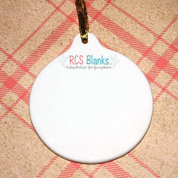 Round Ceramic Ornament