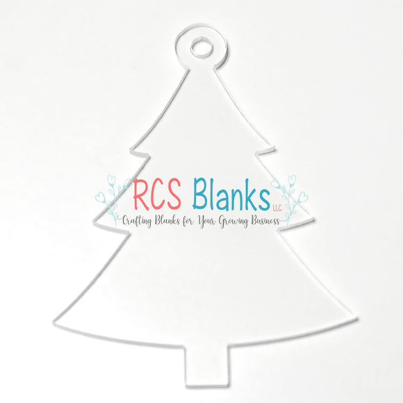 Clear Tree Acrylic Christmas Ornament