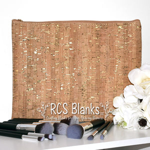 Cork & Gold Cosmetic Bag