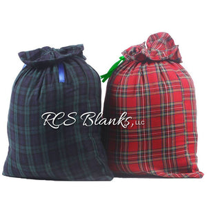 Plaid Fabric Christmas Gift Bag