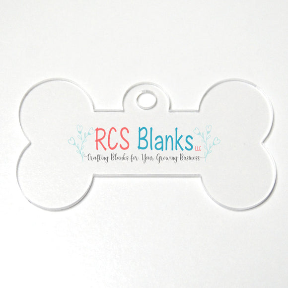 Clear Dog Bone Acrylic Christmas Ornament