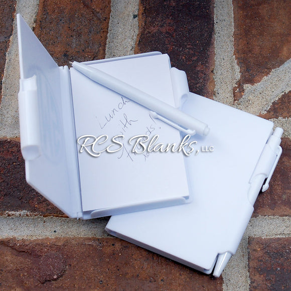 White Pocket Notebook & Pen Set