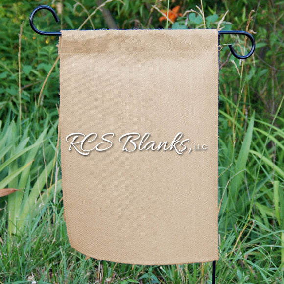 Straight Bottom Burlap Garden Flag